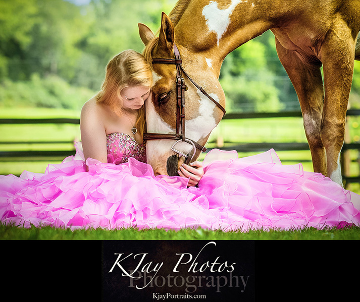 Pretty Horse Prom Dress Senior PIctures, K Jay Photos Photography, Madison WI Photographer www.kjayportraits.com