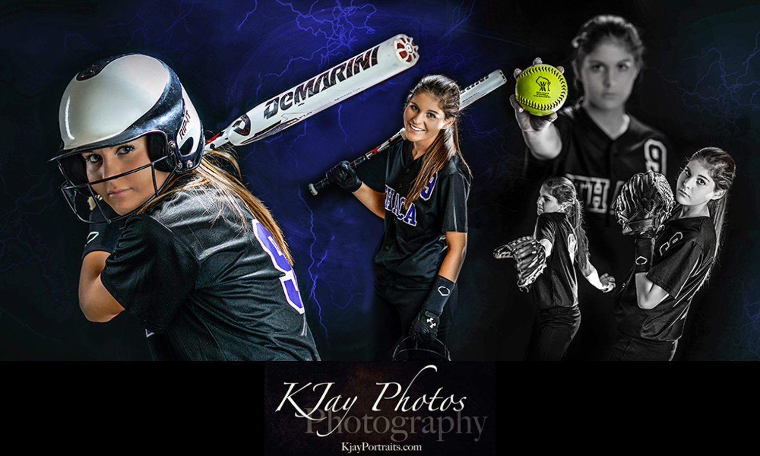 Softball senior pictures for girls.  K Jay Photos Photography, Madison WI.