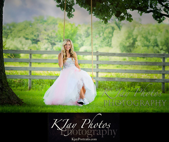 Pretty Prom Dress Senior PIctures, K Jay Photos Photography, Madison WI Photographer