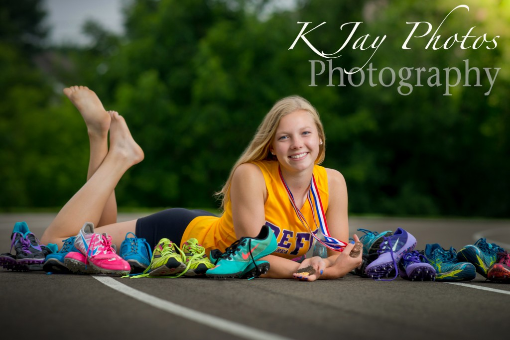 Fun track senior pictures, K Jay Photos Photography, De Forest Photographer