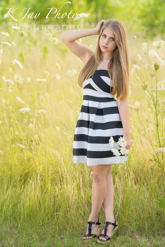 Flowers and fun senior pictures. K Jay Photos Photography, Madison WI Photographer.