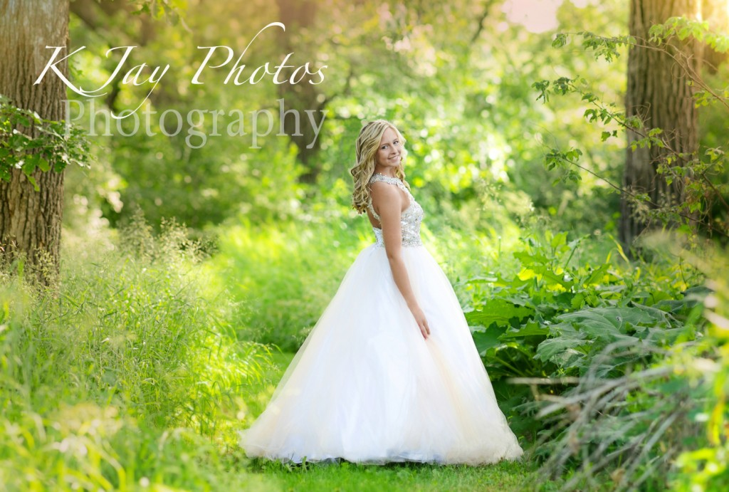 Prom dress senior pictures, Madison Wisconsin Photographer