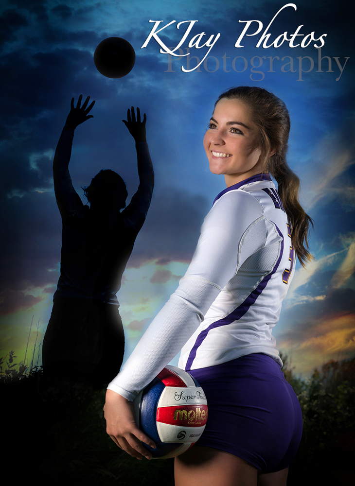 Unique girls volleyball senior pictures by K Jay Photos Photography