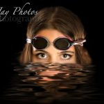 Creative swim senior pictures for swimmers. K Jay Photos Photography, a Madison WI Photographer
